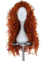 Cosplay Wigs Brave Mavis Orange Medium / Curly Anime Cosplay Wigs 75 CM Heat Resistant Fiber Female
