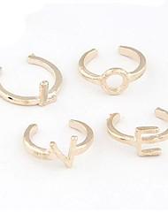 mode anneau de l'amour de métal ensemble