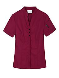 ресторанах униформа короткий рукав официант блузки с застежкой