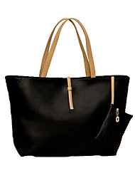 Erlen Women's Korean Style Casual Big Tote(Black)