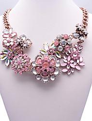 Eternity Women's Gem Flower Pattern Necklace