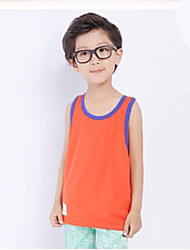 Boy's Sleeveless Vest Solid Color Vest Breathable Sports and Leisure T shirt Small Children's Clothing