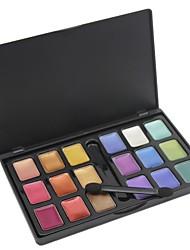 18 cosmétiques couleurs fard à paupières avec la boîte exquis