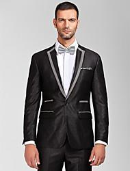 schwarz&grauem Polyester tailliert zweiteilige Smoking