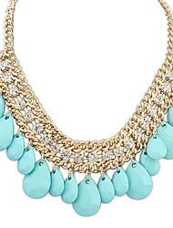 Европейский стиль изысканный горный хрусталь капли воды ожерелье (больше цветов)