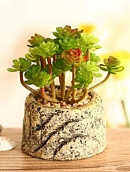 créative tablette décoration simulation de plastique délicat de plante en pot (livraison aléatoire)
