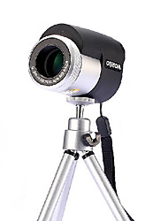 worbo wb8x25 visión de alta potencia noche hd de metal monocular de bolsillo telescopio
