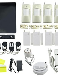 New IOS Apps Supported Smart Wireless Wired Burglar GSM Home Security Alarm System - White + Black