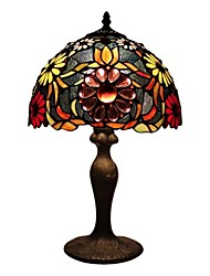 Tiffany Table Lamp With Glass Beads