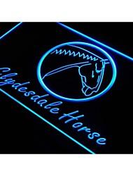 j878 modello cavallo Clydesdale casa decorazione nuovo segno della luce