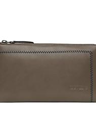 Mens Leather Casual Zipper Clutch Handbag Wallet