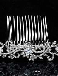 8.8cm Clear Rhinestone Hair Comb Tiara Wedding Bridal Jewelry Accessories for Party