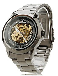 Men's Watch Automatic self-winding Skeleton Watch Hollow Engraving Stainless Steel Band Wrist watch