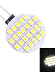g4 1.5w 110lm 7000K 24x3528 bianca ha condotto la lampadina (12V DC)