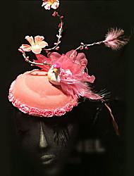 fleur vintage / plume d'oiseau occasion / chapeau spécial de stade