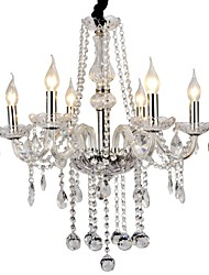 40 Chandelier ,  Modern/Contemporary Electroplated Feature for Crystal Metal Living Room Bedroom Dining Room