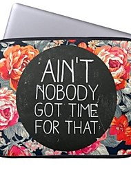 "Elonbo Ain't Nobody Got Time for That 15"" Laptop Neoprene Protective Sleeve Case for Macbook Pro Retina Dell HP Acer"