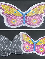 1pcs modèle clair perles Perler panneau perforé motif de papillon coloré pour perles hama 5mm perles fusibles