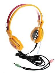 3,5 mm para auscultadores estéreo com microfone e controle de volume (220 centímetros)