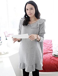 Maternity's Fashion Leisure Pure Color Dress