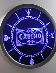 nc0358 Casino Poker Game Room Bar Beer Neon Sign LED Wall Clock