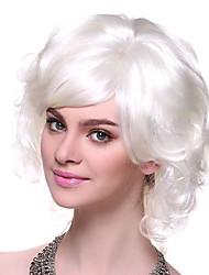 estilo de vacaciones roman fibra sintética blanca fiesta de halloween peluca 11cm de las mujeres
