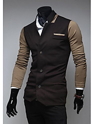 Men 's Fashion Color Matching Personality Leisure Coat Small Suit