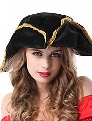 Halloween chapeau de fête de triangle noir des pirates des caraïbes femme