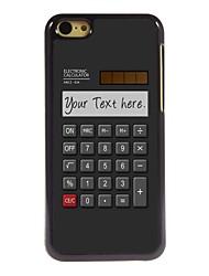 calculadora presente caso design de metal personalizado para iphone 5c