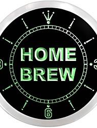 produção caseira de cerveja bar pub neon sinal de LED relógio de parede