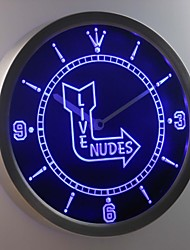 nc0427 classique nu flèche bar signe direct bière fille au néon conduit horloge murale