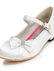 Girl's Flats Spring / Summer / Fall / Winter Comfort Satin Wedding Flat Heel Bowknot Pink / Red / Ivory / White