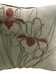 """16 """"bordado cadena plaza cubierta de la almohadilla decorativa"""