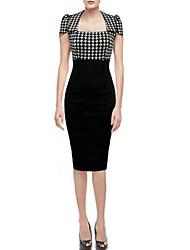 VERYM Women's Elegance Sexy Short Sleeve Dresses