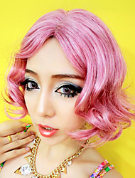 Seductive Lady Taro Color 27cm Short Curly Hair Women's Halloween Party Wig