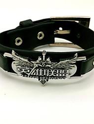 Schmuck Inspiriert von LOL Cosplay Anime/ Videospiel Cosplay Accessoires Armbänder Schwarz Legierung / PU Leder Mann