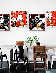 Personalized Canvas Print Stretched Canvas Art The Cook Abstract 30x30cm  50x50cm Framed Canvas Painting Art Set of 4