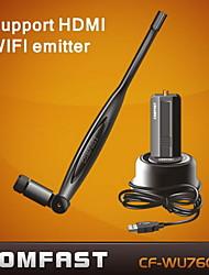 comfast® CF-wu760nl адаптер WiFi 150 Беспроводной USB сетевая карта с поддержкой антенна HDTV-черный