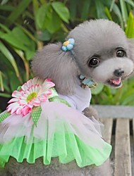 chiens tournesol gaze net robe tutu chien jupe animal vêtements de princesse robe de chat