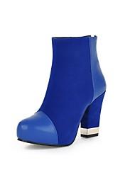 botines zapatos de moda de tacón grueso de las mujeres con cremallera más colores disponibles