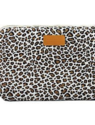 "14.3 ""15.6"" Leopard canvas caso da tampa do laptop shakeproof para macbook dell thinkpad sony hp samsung"