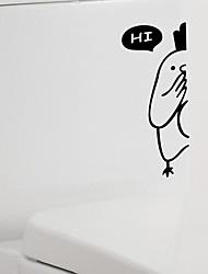 caricatura garota higiênico adesivo