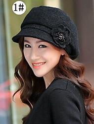 novo chapéu de lã de inverno moda feminina