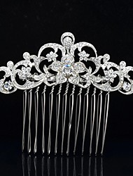 8.5cm Gorgeous Flower Hair Comb Tiara Wedding Bridal Jewelry for Party