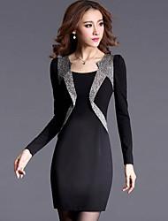 JFS Korean Assorted Colors Slim Long Sleeve Bottoming Dress