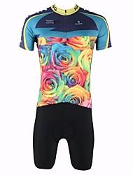 paladinsport l'homme d'hommes a augmenté de printemps et d'été de style lycra et polyester manches courtes maillots de cyclisme