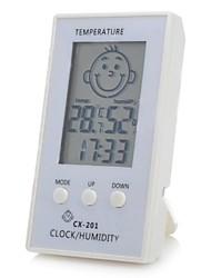 """padrão de rosto 2.3 """"lcd inteligente higrômetro termômetro eletrônico para o quarto do bebê"""
