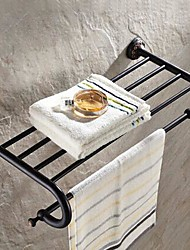 Oil Rubbed Bronze  Bathroom Shelf With Towel Bar