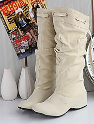 Women's Shoes Wedge Heel Flcoking Knee High Boots More Colors available