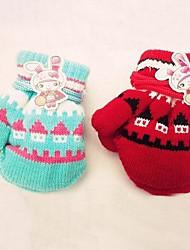 Children's Cartoon  Mittens Halter Wool Gloves(Random Delivery)